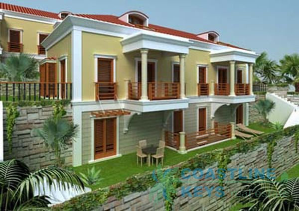 Castle mansions with sea view in Alanya title=
