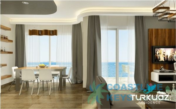 Sea front apartments in Kestel - Turkuaz Residence title=