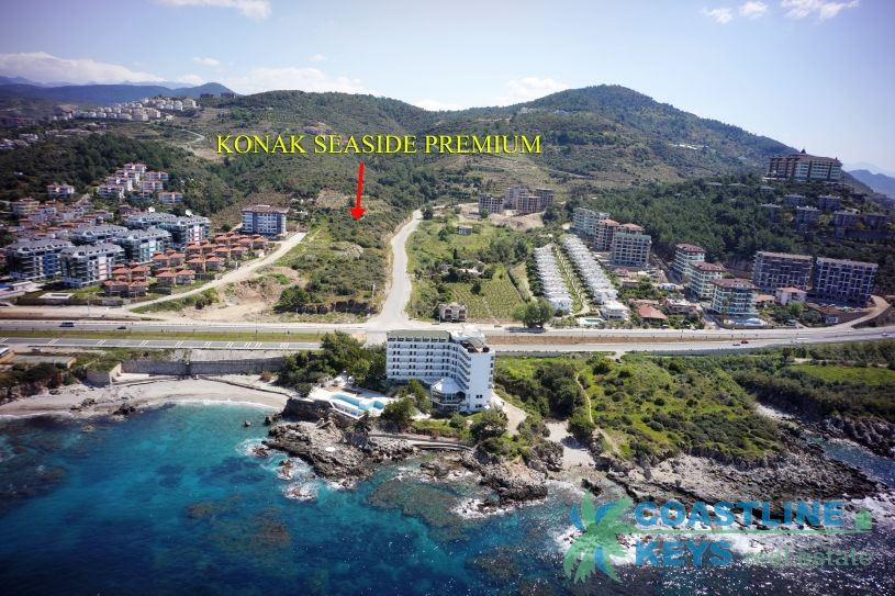 Beachfront luxury project under construction in Alanya title=