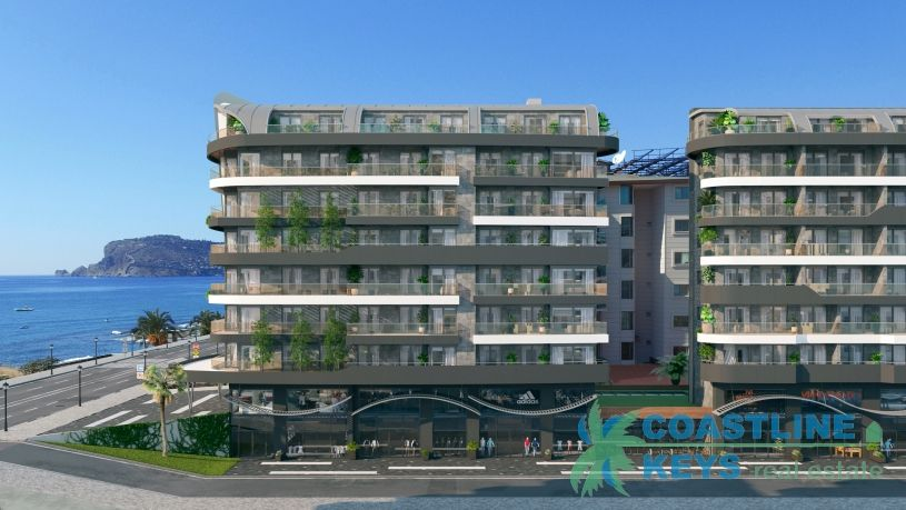 Beach front apartments in Oba, Alanya title=