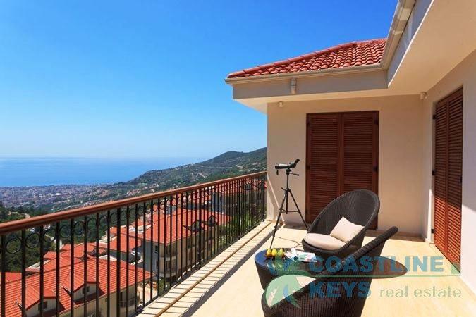 Exclusive luxury villa in the Mediterranean sea in Alanya title=