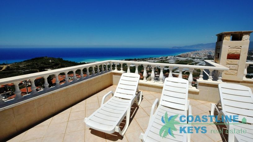Villa with sea view in Alanya title=