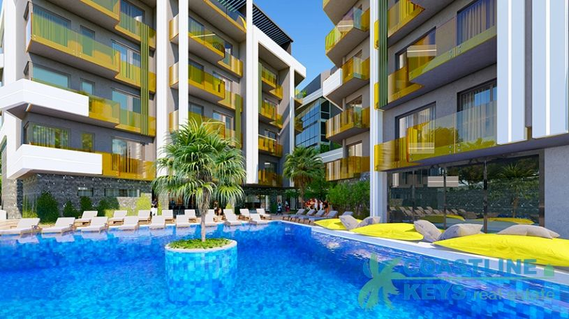 New residence near the Cleopatra beach, Alanya title=