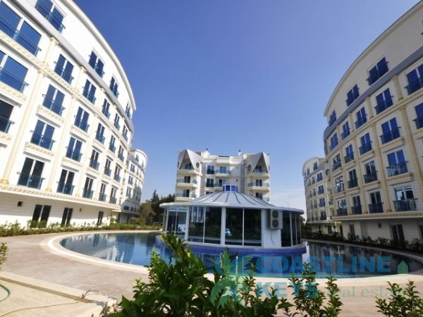 Elite residential complex near the river in Antalya title=