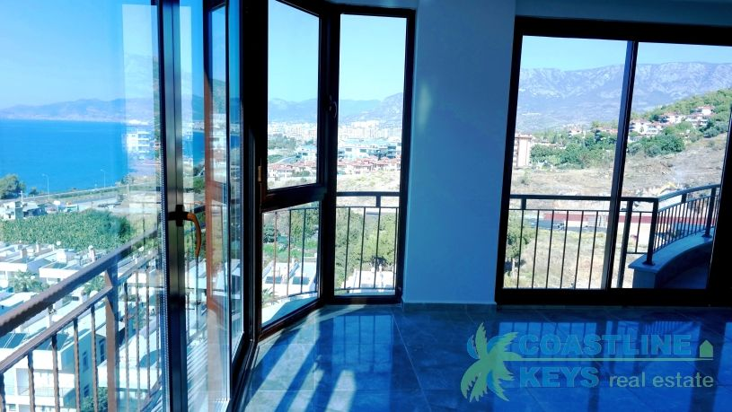 3-bedroom penthouse with sea view in Alanya title=