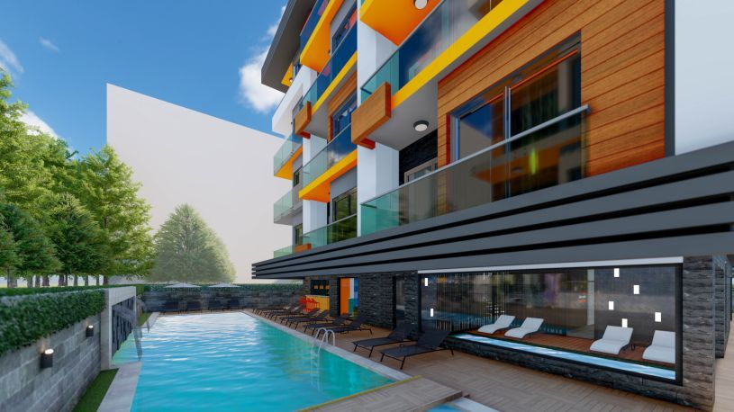 Property in the center of Alanya with installments title=