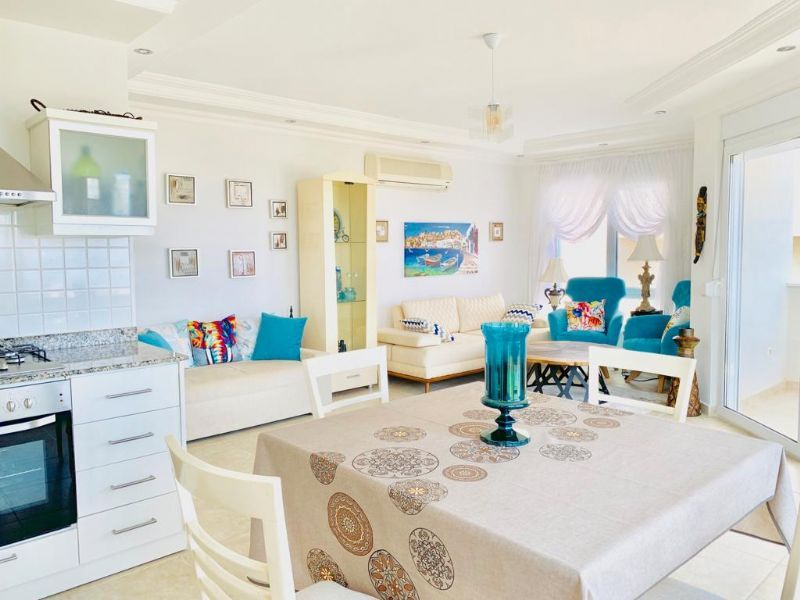 Rent 2 + 1 apartment with furniture in the Alanya title=