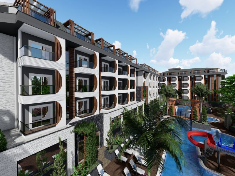 Big complex with payment plan in Avsallar title=