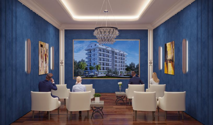 The new project in Alanya near the sea title=
