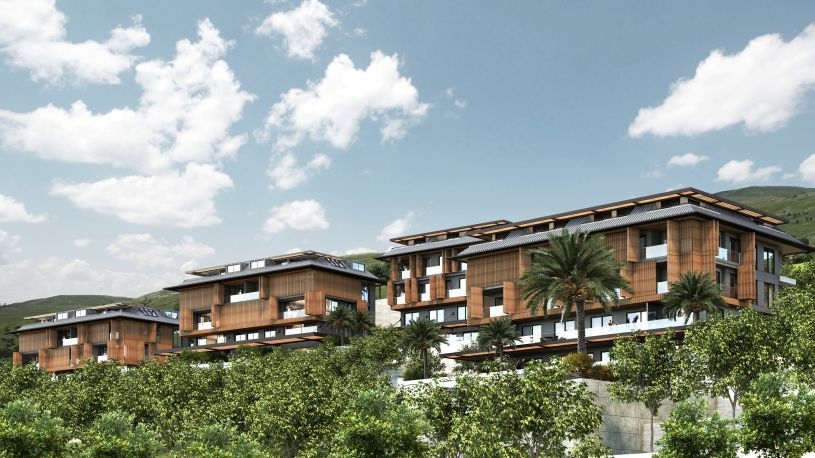 Specious apartments with nice view in Alanya title=