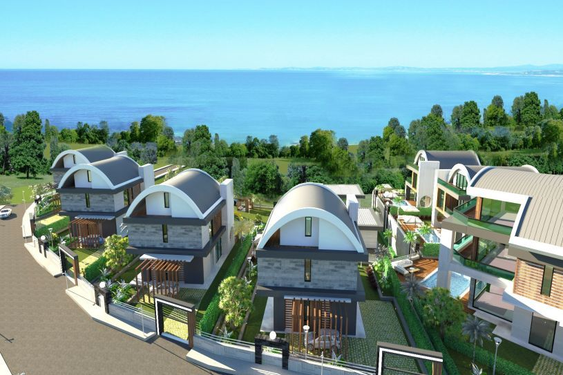 Villas under construction in Alanya title=